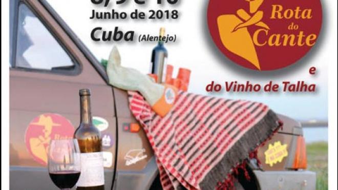 Rota do Cante e do Vinho de Talha até domingo em Cuba