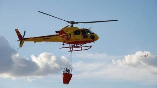Helicóptero de combate a incêndios instalado em Ourique