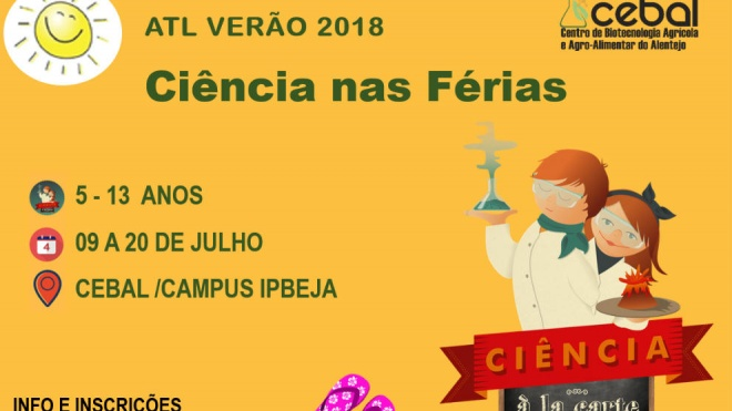 """CEBAL propõe """"Ciência à la Carte – ATL de Verão 2018"""""""