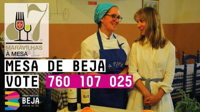 """Mesa de Beja na semi-final do concurso """"7 Maravilhas à Mesa"""""""