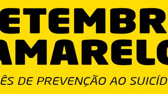 """Carrinha """"setembro amarelo"""" estacionada em Beja"""