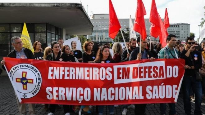 Enfermeiros manifestam-se em Lisboa