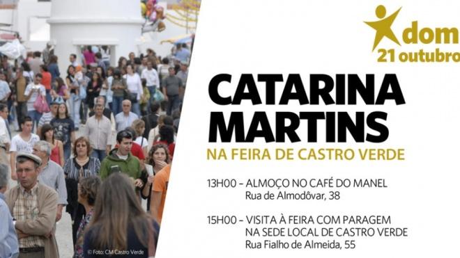 Catarina Martins está hoje em Castro Verde