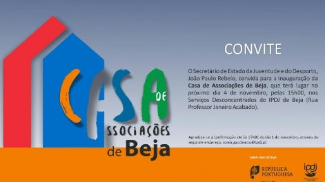 É inaugurada hoje a Casa de Associações de Beja