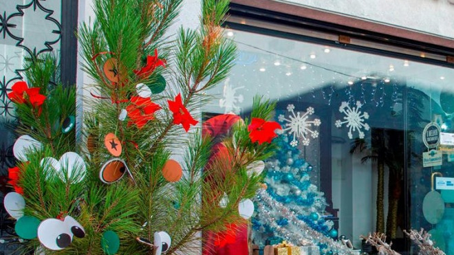 Moura: Pinheiros de Natal no comércio local