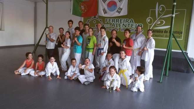 Treino Nacional de Taekwondo em Ferreira do Alentejo