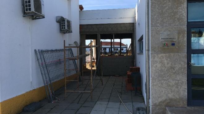 Obras na EB1 de Santa Bárbara de Padrões