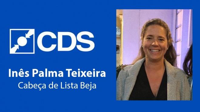 Inês Palma Teixeira cabeça de lista do CDS-PP em Beja
