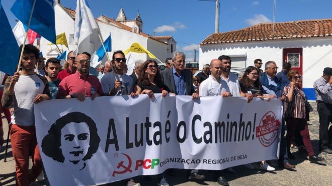 """Jerónimo de Sousa diz que """"votar na CDU"""" é """"votar no lado certo"""""""