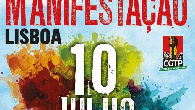 CGTP-IN promove manifestação nacional a 10 de Julho