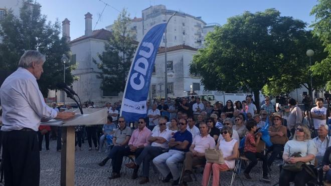 Jerónimo de Sousa pediu em Beja mais força à CDU nas legislativas 2019