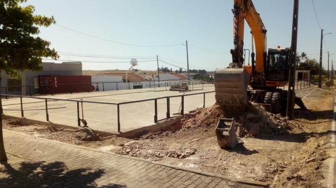 Obras de requalificação do Polidesportivo de Casével