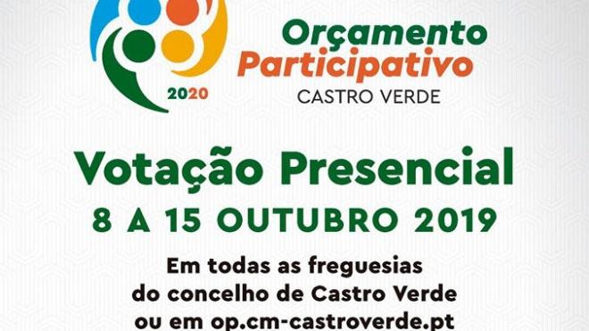 OP de Castro Verde com votação aberta até 15 de outubro