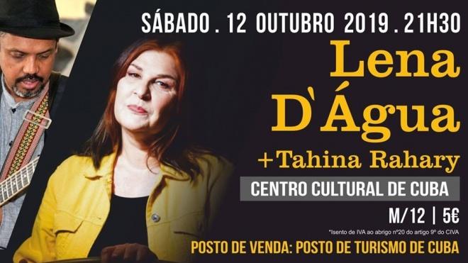 Espetáculo de Lena d'Água e Tahina Rahary em Cuba