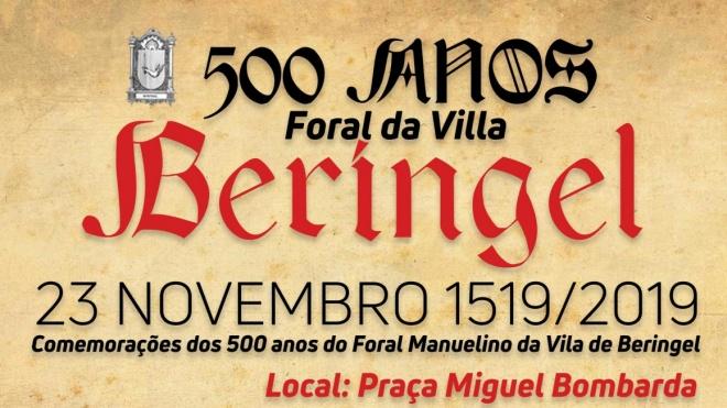 Beringel comemora 500 anos de Foral Manuelino