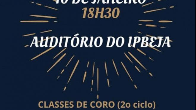 Auditório do IPBeja recebe hoje audição das classes de coro do CRBA