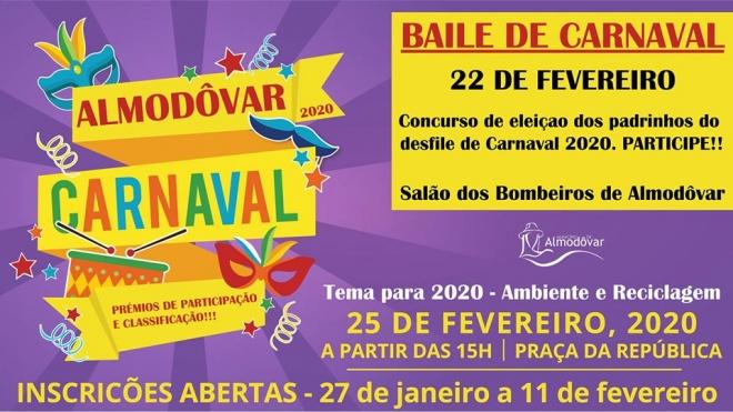 Desfile de Carnaval em Almodôvar com inscrições abertas