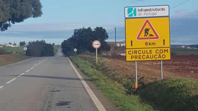 Já arrancaram as obras na EN 18 que liga Beja ao concelho de Aljustrel