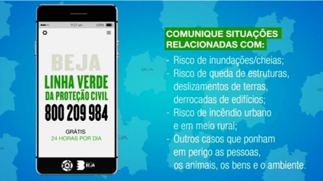 Beja: Serviço de protecção civil tem linha verde