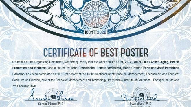 Projeto Com_Vida distinguido com primeiro prémio