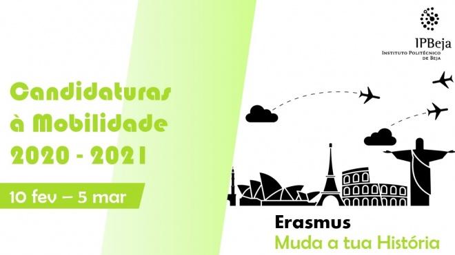 IPBeja: Abertas candidaturas à Mobilidade Académica de Estudantes 2020/2021