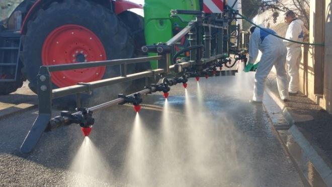ACOS cede equipamentos de pulverização para desinfeção das vias