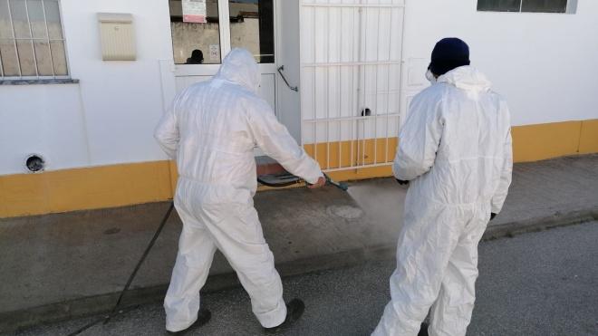 Junta de Beringel procede à desinfeção das ruas da vila