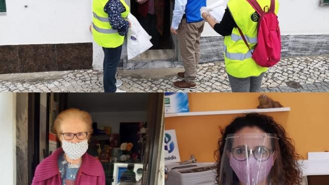 Câmara de Aljustrel continua a distribuir máscaras à população e viseiras aos comerciantes