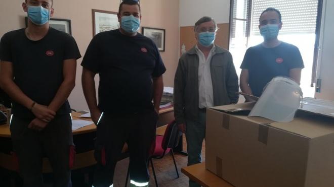 EDP Produção oferece viseiras à Câmara de Vidigueira