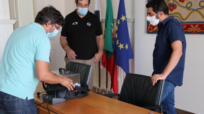 Câmara de Serpa recebe máquina de desinfeção de viaturas