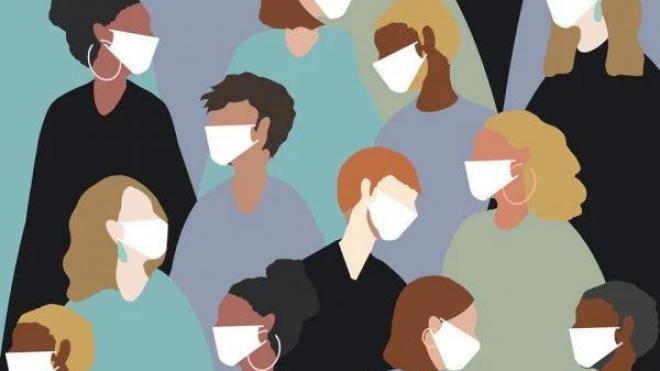 Máscara: obrigatório o uso para o acesso ou permanência nos espaços e vias públicas, apenas nos casos em que o distanciamento físico recomendado se mostre impraticável.
