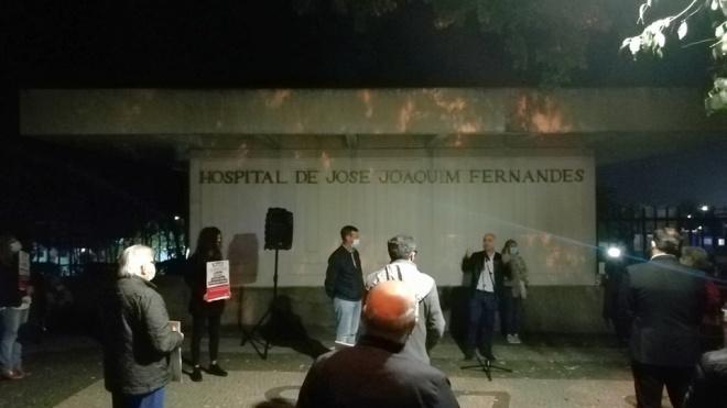 """PCP: protesto realizado """"Em defesa do direito à Saúde"""" frente ao Hospital de Beja"""