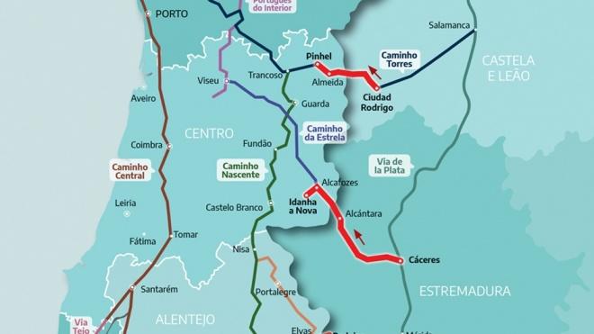 Projeto CIS inclui 9 itinerários que ligam Portugal a Santiago De Compostela