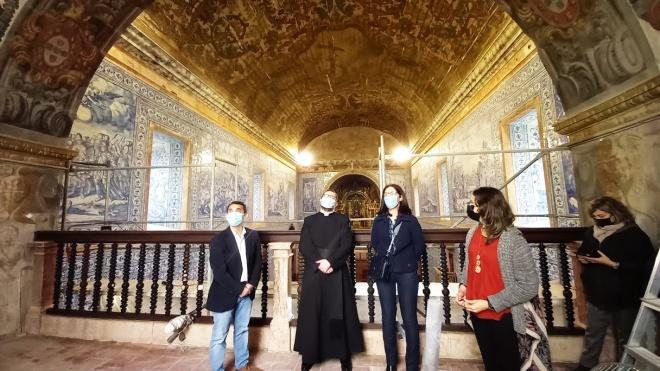 Basílica Real de Castro Verde: restauro do coro alto e do nártex. Visita de Ana Paula Amendoeira