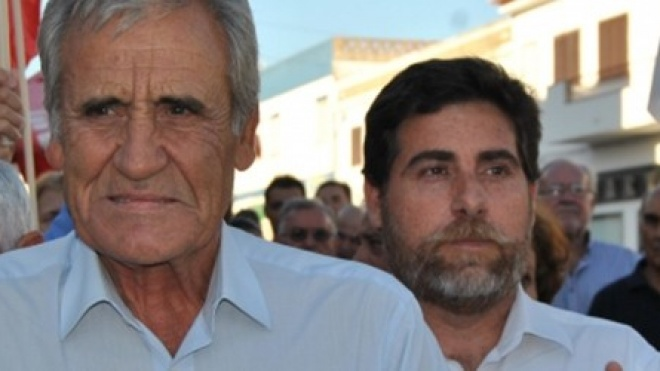 Jerónimo de Sousa em campanha no distrito