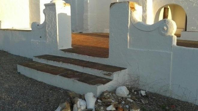 Santuário de Igreja de Nossa Senhora de Guadalupe destruído