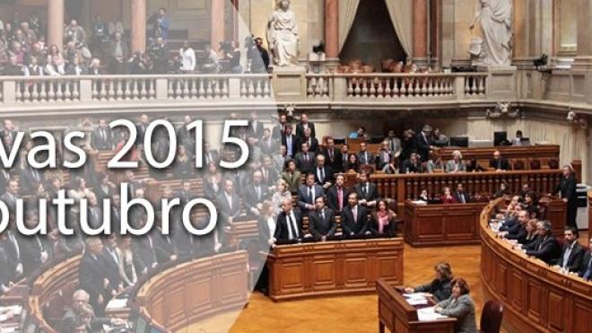 Legislativas 2015 a 4 de outubro