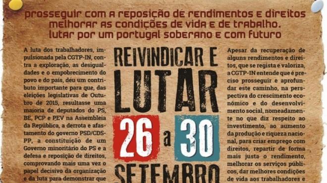 CGTP-IN com Semana Nacional de Luta