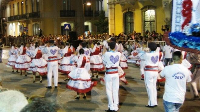 Desfile de marchas populares nas Neves