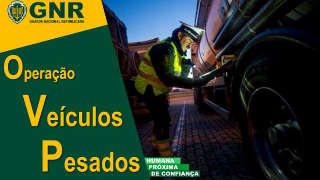 Operação de fiscalização de veículos pesados de mercadorias e de passageiros