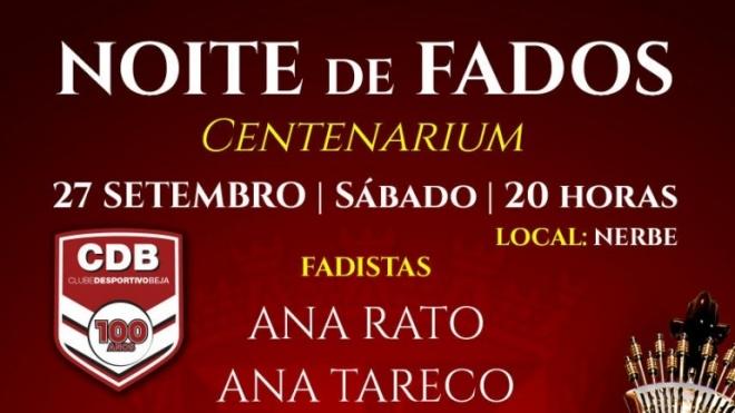 Noite de Fados Centenarium em Beja