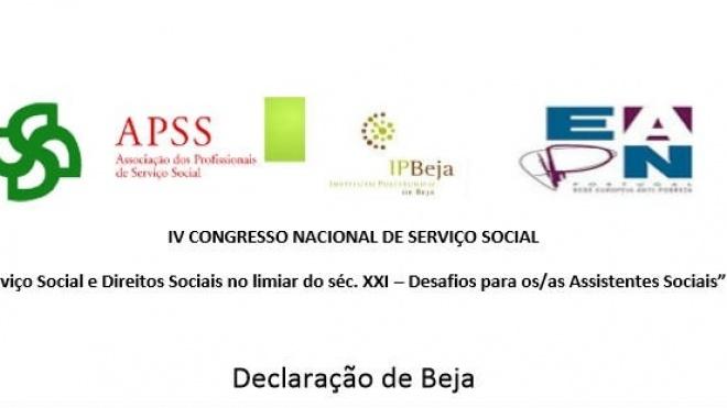 Declaração de Beja do IV Congresso Nacional de Serviço Social