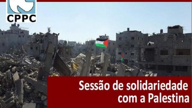Sessão de solidariedade com a Palestina